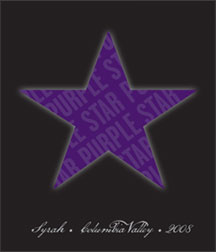 2008 Purple Star Syrah label